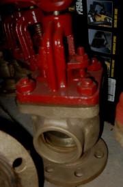 Клапан запорный фланцевый концевой, угловой пожарный Ду50 Ру10 ч. 595-03.008, 595-35.090, Ду 32 ч. 595-35.087
