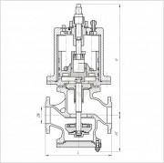 521-182.196-02 Клапан проходной запорный фланцевый с пневмоприводом