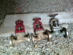 Клапан запорный фланцевый проходной латунный Ду25 Ру2,5 Мпа 521-01.125