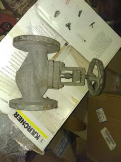 Клапан DN50, PN16 строительный размер (межфланцевый) 230 мм., фланец 4 отверстия