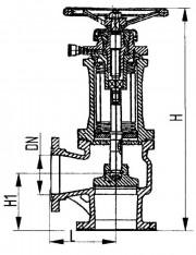Клапан запорный сильфонный 521-03.509, 521-03.501-02