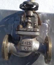521-01.127 Клапан запорный фланцевый проходной сальниковый ДУ-40, РУ-25